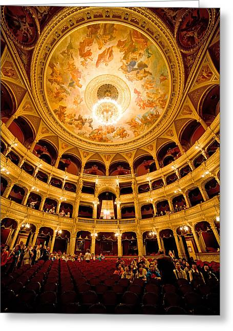 Hungarian Greeting Cards - Budapest Opera House Interior Greeting Card by Artur Bogacki