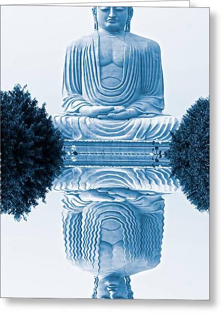 Banian Greeting Cards - Buddha - Bodhgaya - India Greeting Card by Luciano Mortula