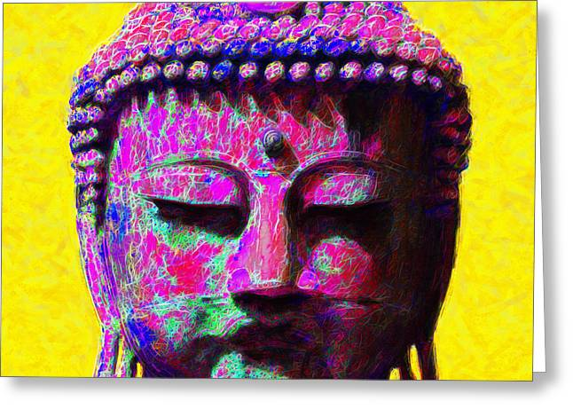 Budha Greeting Cards - Buddha 20130130m168 Greeting Card by Wingsdomain Art and Photography