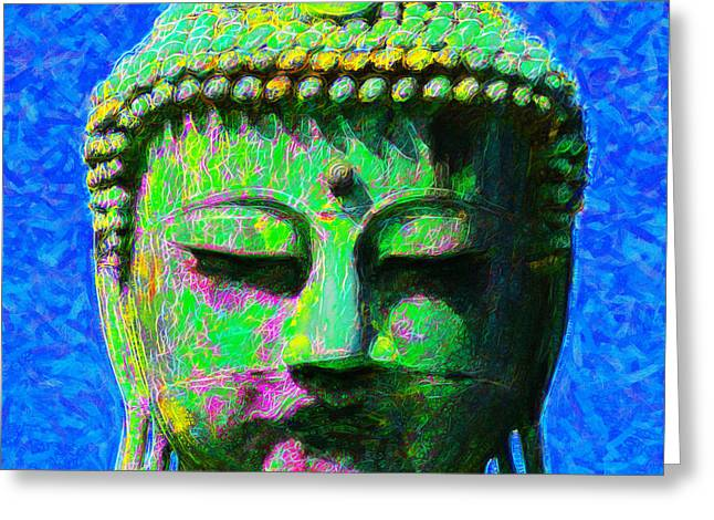 Budha Greeting Cards - Buddha 20130130p0 Greeting Card by Wingsdomain Art and Photography
