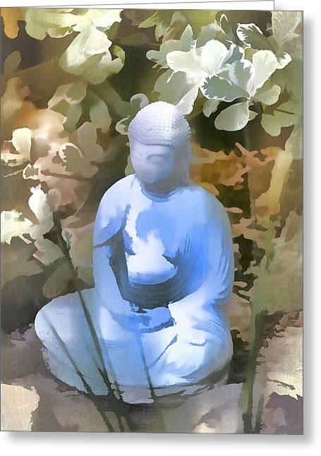 Buddha 3 Greeting Card by Pamela Cooper