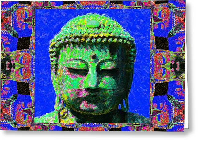 Budha Greeting Cards - Buddha Abstract Window 20130130m68 Greeting Card by Wingsdomain Art and Photography