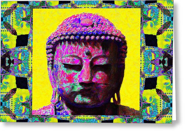 Buddha Abstract Window 20130130p120 Greeting Card by Wingsdomain Art and Photography