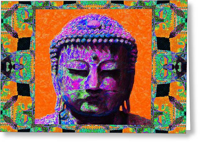 Budha Greeting Cards - Buddha Abstract Window 20130130p85 Greeting Card by Wingsdomain Art and Photography
