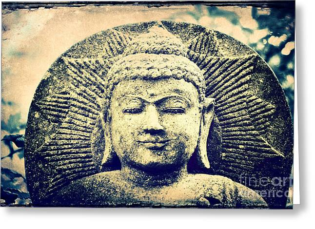 Satisfaction Greeting Cards - Buddha Greeting Card by Angela Doelling AD DESIGN Photo and PhotoArt