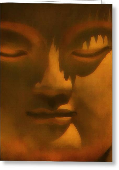 Statue Portrait Greeting Cards - Buddha At Rest Greeting Card by Kandy Hurley