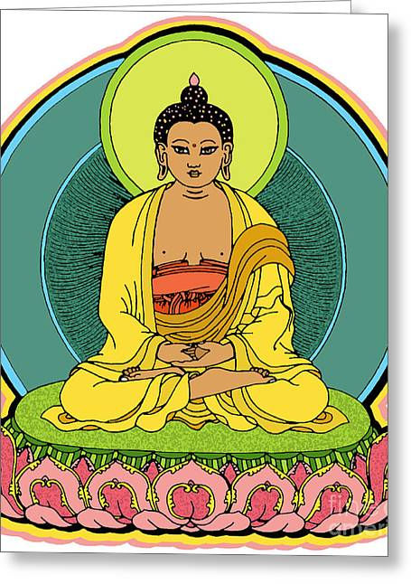 Buddha Blessings Greeting Card by Sol Sketches