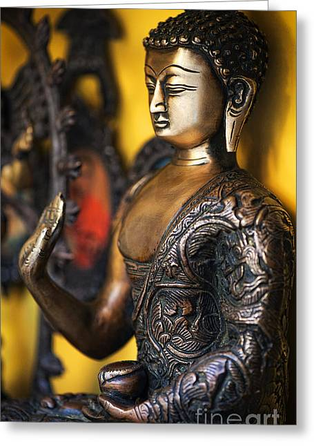 Meditate Greeting Cards - Buddha Blessings Greeting Card by Tim Gainey