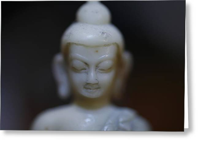 Buddha Greeting Card by Brady D Hebert