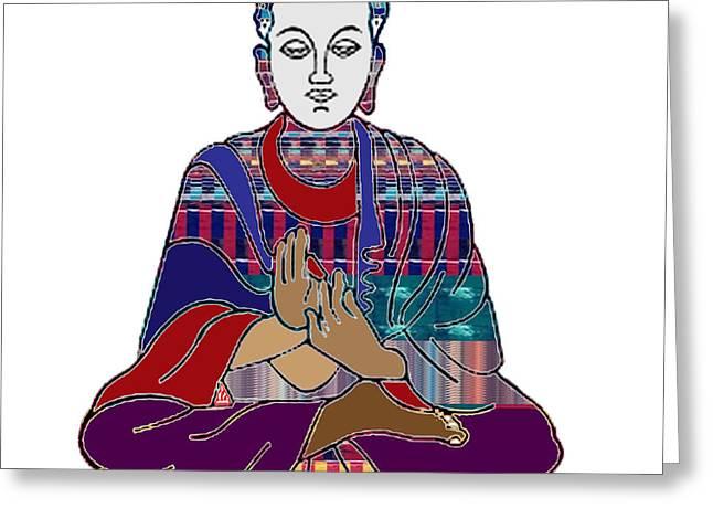Fineartamerica Greeting Cards - Buddha in meditation Buddhism Master Teacher Spiritual Guru by NavinJoshi at FineArtAmerica.com Greeting Card by Navin Joshi
