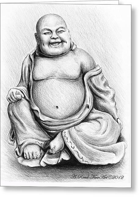 Buddha Buddy Greeting Card by Andrew Read