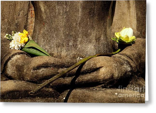 Buddah Greeting Cards - Buddha - Devotional IV Greeting Card by Dean Harte