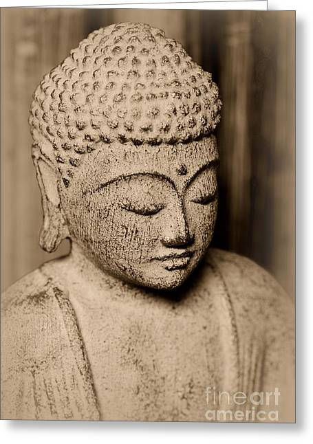 Buddha Enlightened Greeting Card by Paul Ward