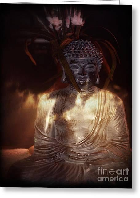 Buddha Greeting Card by Eva Thomas