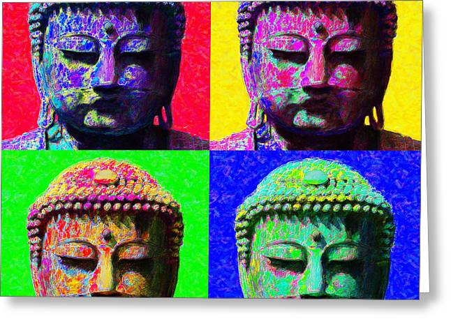 Budha Greeting Cards - Buddha Four 20130130 Greeting Card by Wingsdomain Art and Photography