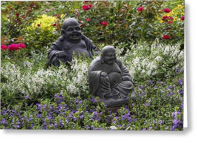 Perrenials Greeting Cards - Buddha Garden Greeting Card by John Greim