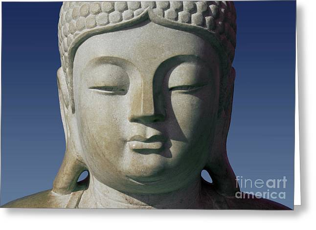 Best Sellers -  - Statue Portrait Greeting Cards - Buddha Greeting Card by George Siedler