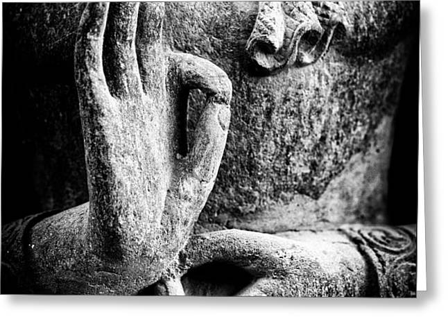 Buddha Hand Mudra Greeting Card by Tim Gainey