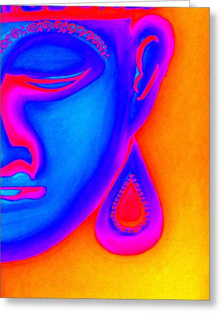 Figurs Greeting Cards - Buddha Inspiration Greeting Card by Christine Jahn