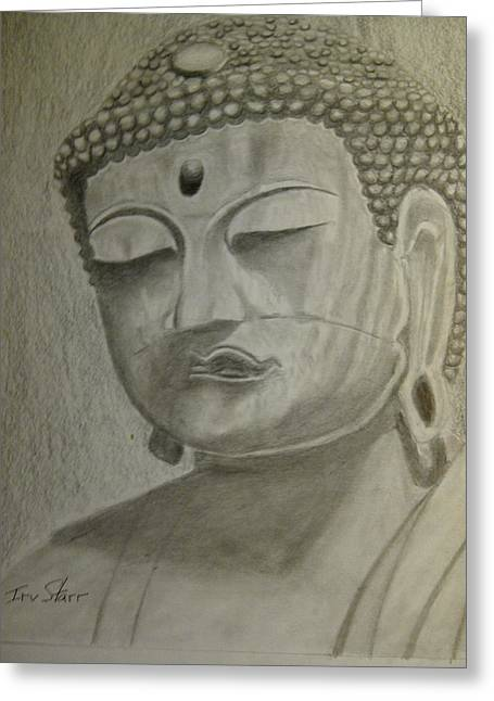 Buddha Greeting Card by Irving Starr