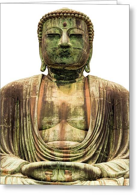 Kamakura Greeting Cards - Great Buddha of Kamakura Greeting Card by Brady Barrineau