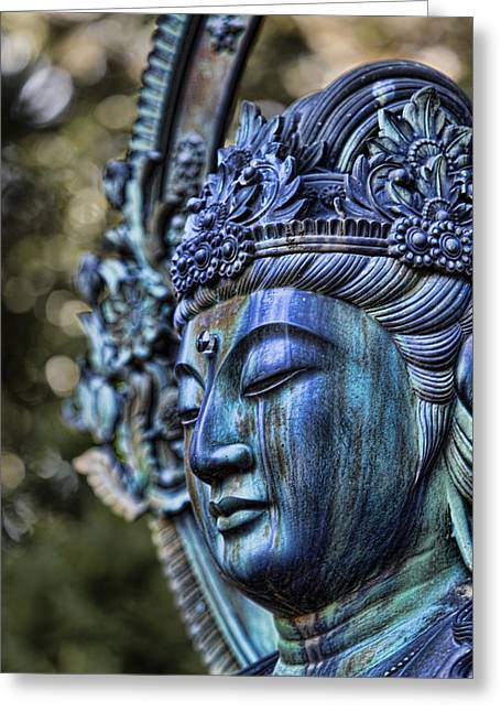 Karen Walzer Greeting Cards - Buddha Greeting Card by Karen Walzer