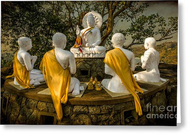 Religious Digital Greeting Cards - Buddha Lessons Greeting Card by Adrian Evans