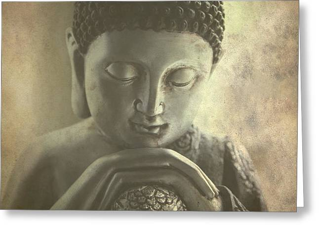 Buddha Greeting Card by Madeleine Forsberg