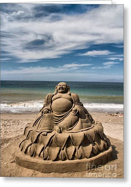 People Greeting Cards - Buddha Greeting Card by Mark Baker