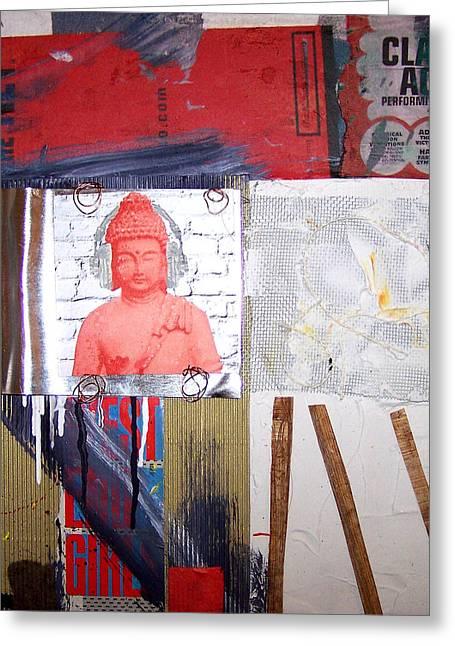 Susan Washington Greeting Cards - Buddha Music Greeting Card by Susan Washington