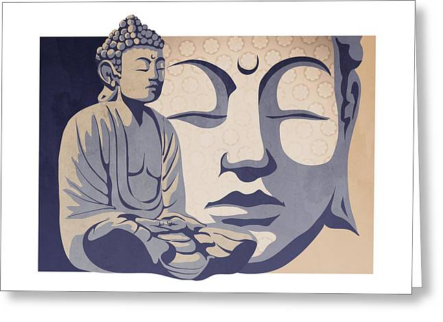 Mind Paintings Greeting Cards - Buddha Greeting Card by Sassan Filsoof