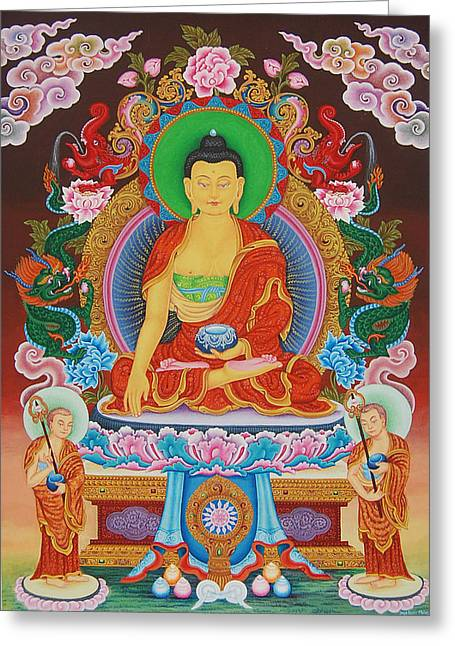 Liberation Greeting Cards - Buddha Shakyamuni Greeting Card by Art School