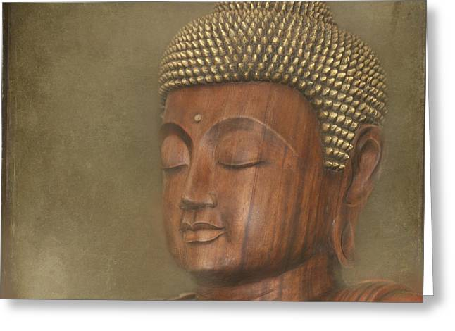 Honour Greeting Cards - Buddha Greeting Card by Sharon Mau