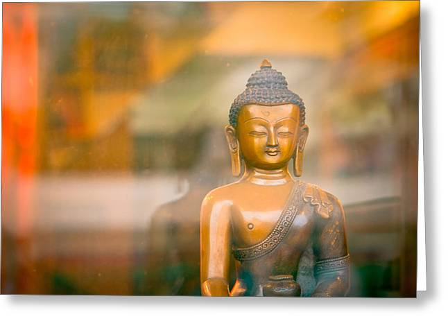 Sculpture Ideas Greeting Cards - Buddha statue Greeting Card by Raimond Klavins