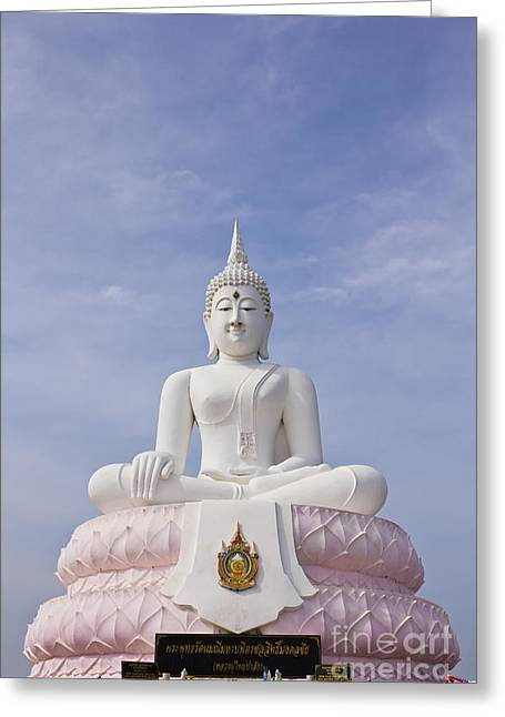 Human Spirit Greeting Cards - Buddha statue Greeting Card by Tosporn Preede