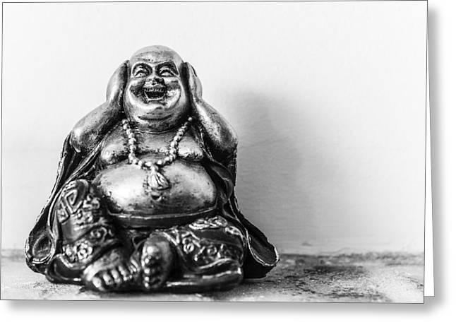 Big Belly Greeting Cards - Buddha Greeting Card by Tony Maduro