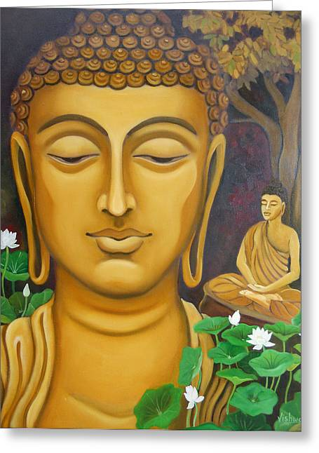 Vishwajyoti Mohrhoff Greeting Cards - Buddha Greeting Card by Vishwajyoti Mohrhoff