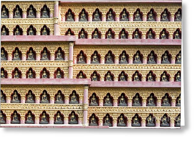 Buddha Wall Greeting Card by Tim Gainey