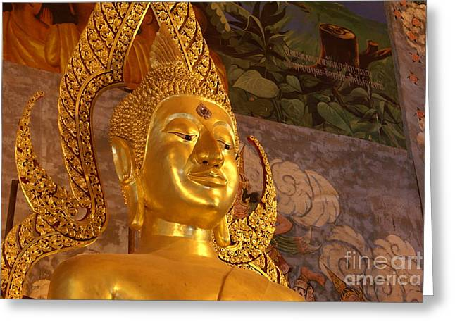 Asean Greeting Cards - Buddha Wat Phrathatchohae Greeting Card by Gregory Smith