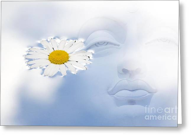Buddha Photographs Greeting Cards - Buddha water flower abstract Greeting Card by Tim Gainey