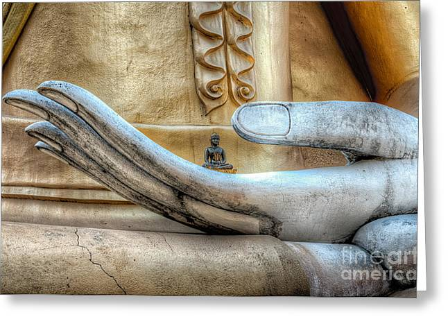 Relaxation Greeting Cards - Buddhas Hand Greeting Card by Adrian Evans