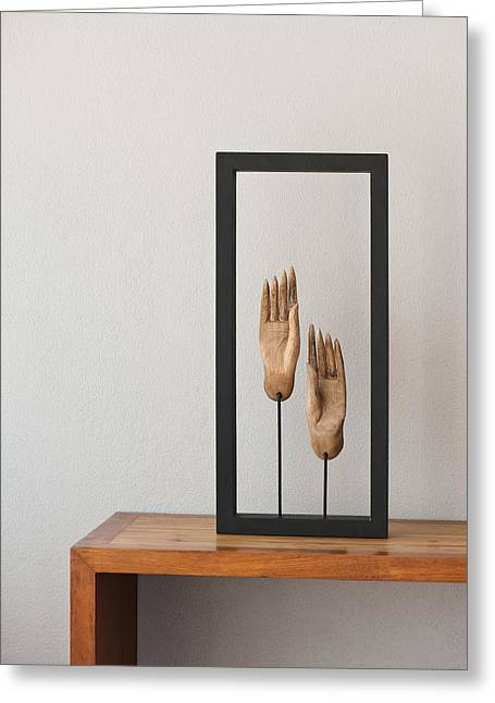 Thai Art Greeting Cards - Buddhas hands Greeting Card by Ulrich Schade