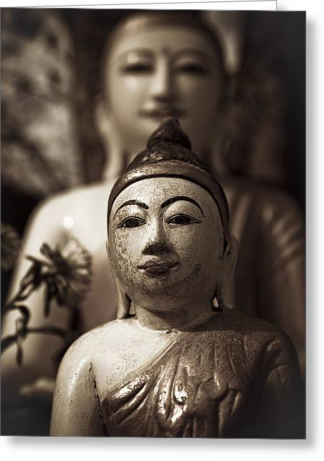 Asien Photographs Greeting Cards - Buddhas Greeting Card by Maria Heyens