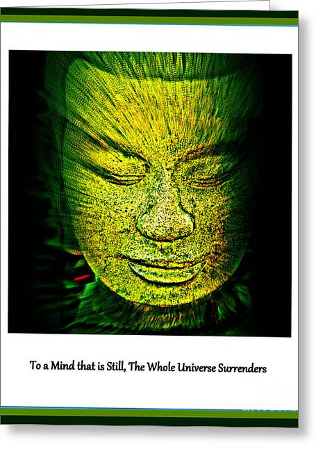 Statue Portrait Greeting Cards - Buddhas Mind II Greeting Card by Susanne Van Hulst