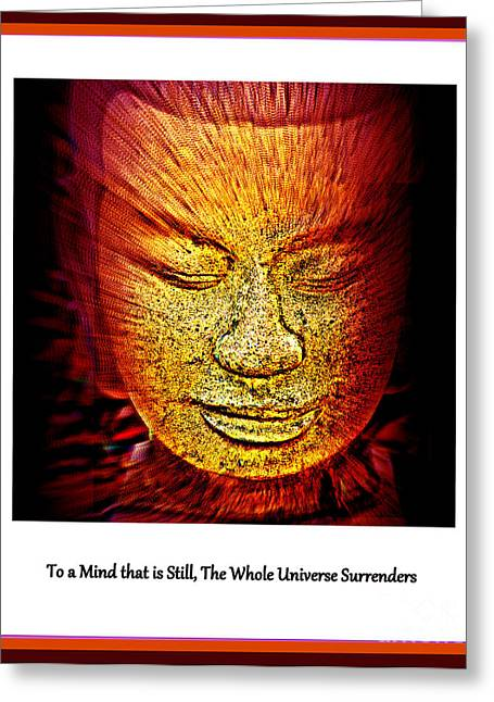 Statue Portrait Greeting Cards - Buddhas Mind III Greeting Card by Susanne Van Hulst