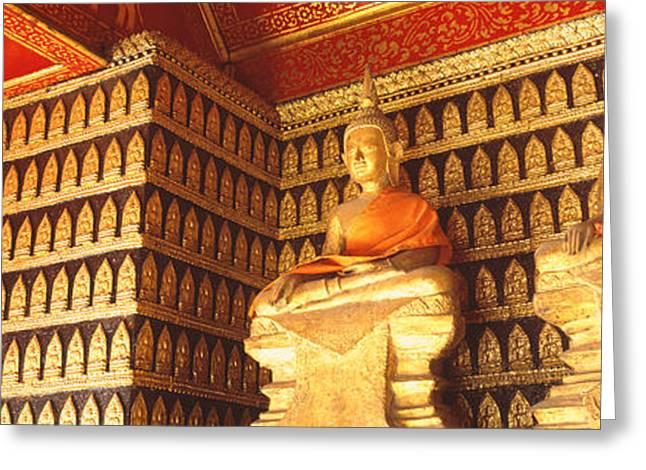Buddhas Wat Xien Thong Luang Prabang Greeting Card by Panoramic Images