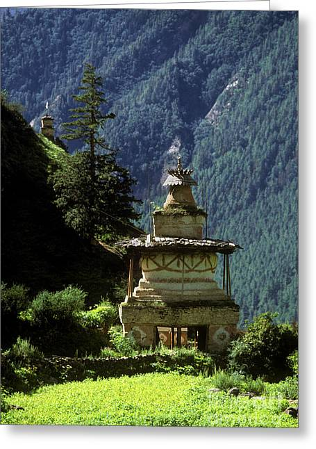 Tibetan Region Greeting Cards - Buddhist Chorten - Dolpo District Nepal Greeting Card by Craig Lovell