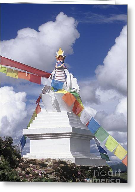 Kathok Monastery Greeting Cards - Buddhist Chorten - Katok Monastery Kham Greeting Card by Craig Lovell