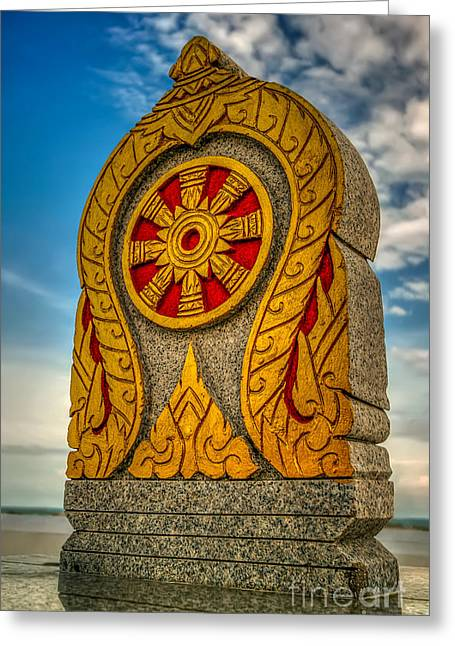 Tablets Greeting Cards - Buddhist Icon Greeting Card by Adrian Evans