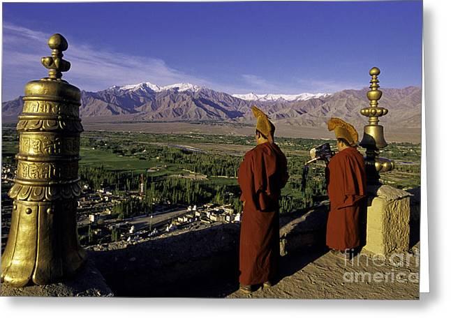 Buddhist Monks Greeting Card by Novastock